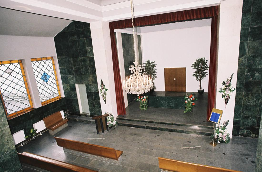 Pohřební služba Atropos s.r.o. Praha Obřadní síň Ústřední obřadní síň Olšany
