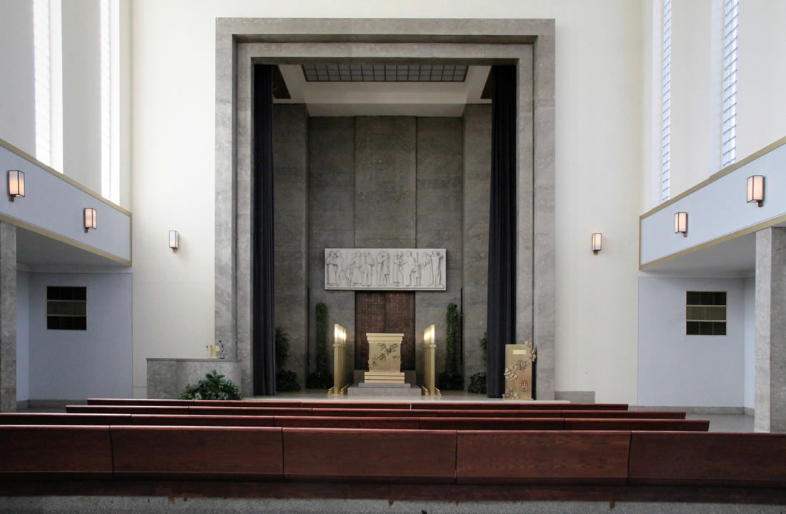 Pohřební služba Atropos s.r.o. Praha Obřadní síň Krematorium Strašnice - Velká obřadní síň