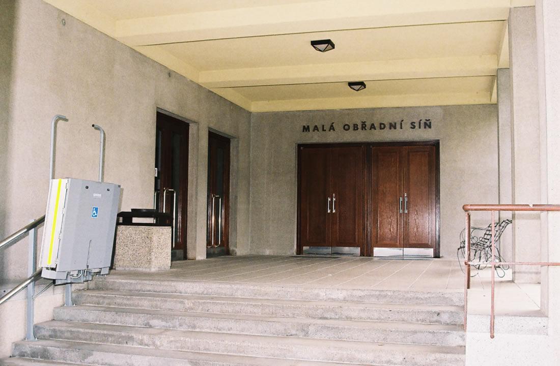 Pohřební služba Atropos s.r.o. Praha Obřadní síň Krematorium Strašnice - Malá obřadní síň