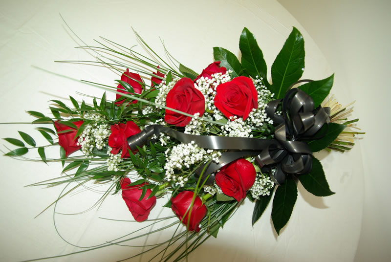 Smuteční kytice volně vázaná 1